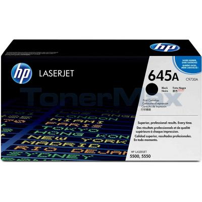 HP NO 645A CLJ-5500 TONER CART BLACK 13K